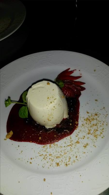 Dessert - leckeres Panna Cotta
